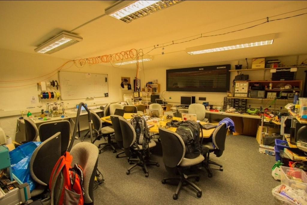 Die guten Hacker: der Werkstattraum von Stratum0