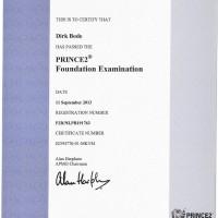 Dirk Bode, LINET Services, Zertifikat Prince2