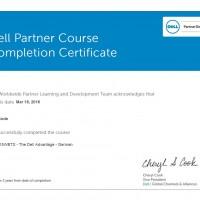 Dirk Bode, LINET Services, Zertifikat Dell Advantage
