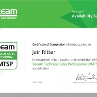 Jair Ritter, LINET Services, Zertifikat Veeam Technical Sales Professional