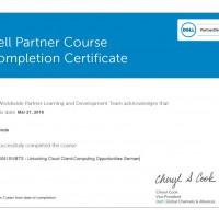 Dirk Bode, LINET Services, Zertifikat Dell Unlocking Cloud Client-Computing Opportunities