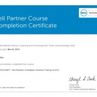 Jair Ritter, LINET Services, Zertifikat Dell Precision Workstation Technical Training