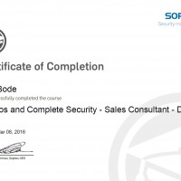 Dirk Bode, LINET Services, Zertifikat Sophos and Complete Security