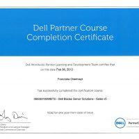 Franziska Obermayr, LINET Services, Zertifikat Dell Blades Server Solutions Sales v5