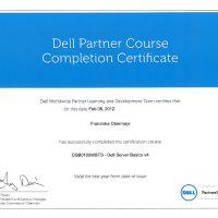 Franziska Obermayr, LINET Services, Zertifikat Dell Server Basics v4