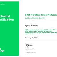 Björn Küttner, LINET Services, Zertifikat SUSE Certified Linux Professional